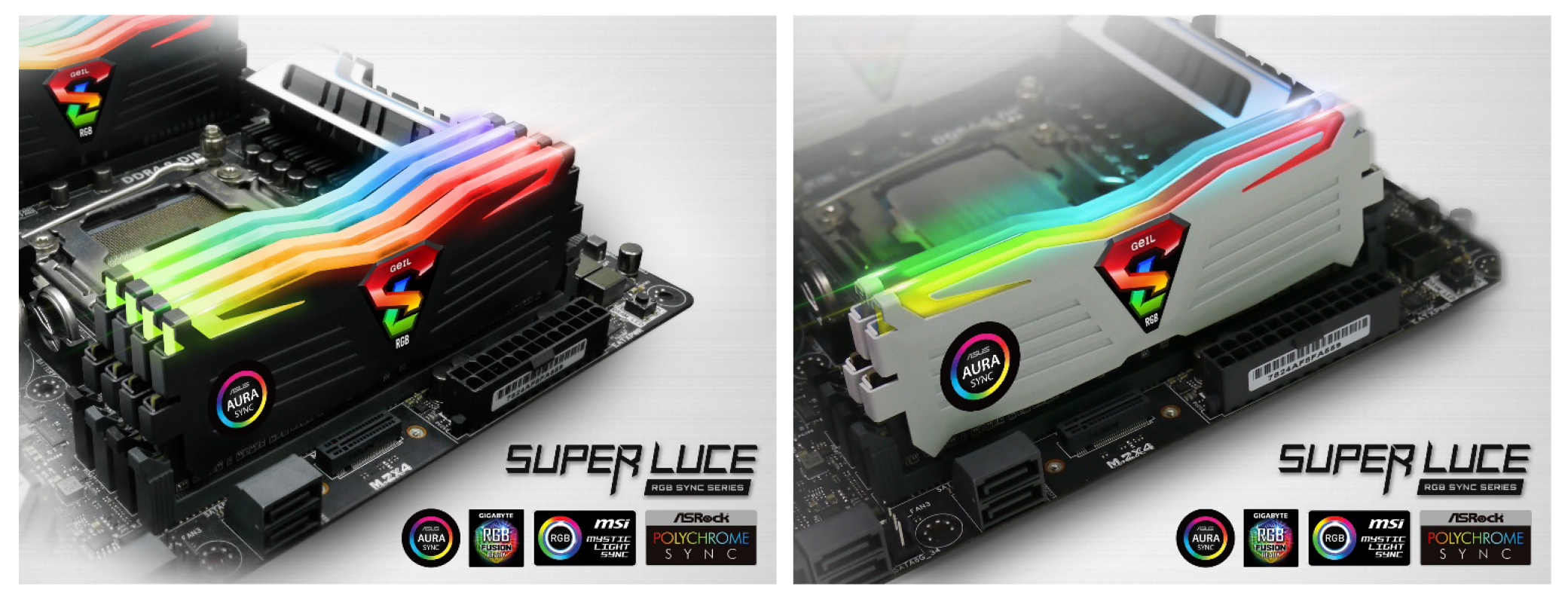 GeIL Launches New Additions to its SUPER LUCE RGB Sync DDR4